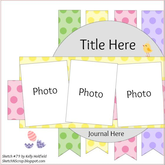 scrapbook template sample